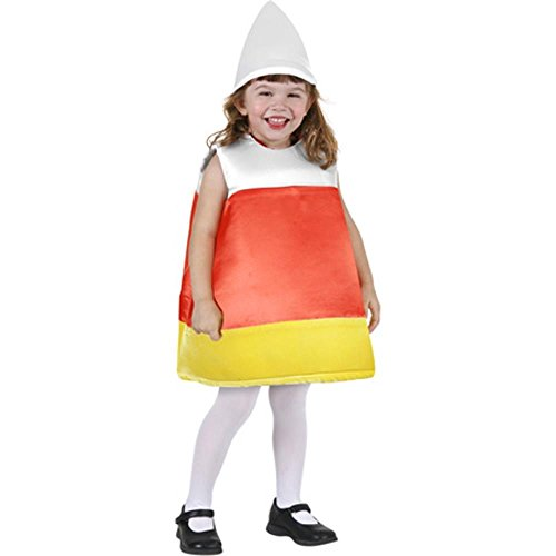 Girl's Candy Corn Costume (Size: Medium 7-10)