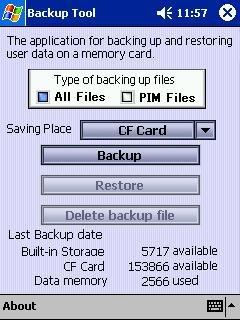 CF card Backup for Pocket PC 2002