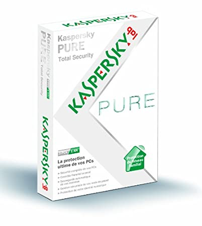 Kaspersky pure total security (3 postes, 1 an)