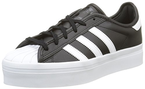 ADIDAS donna sneakers con piattaforma S75069 SUPERSTAR RIZE W 38 2-3 Nero-Bianco