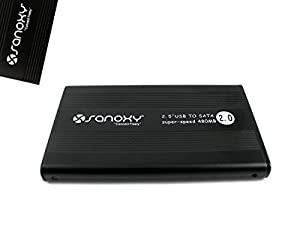 SANOXY® USB External Portable 2.5 Inchs 2.5-inch SATA Hard Disk Drive HDD Enclosure Box Case Laptop