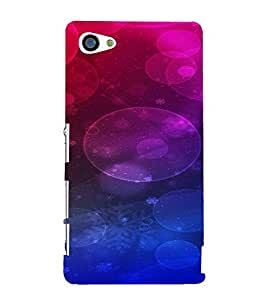 PrintVisa Circles Pattern 3D Hard Polycarbonate Designer Back Case Cover for Sony Z5 Mini :: Z5 Compact