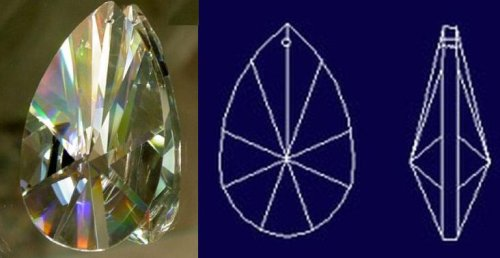 76mm Teardrop Crystal Prisms #873-76