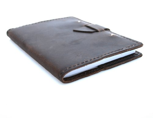 Rustic River Leather Discovery Notebook (Refillable), Dark Brown