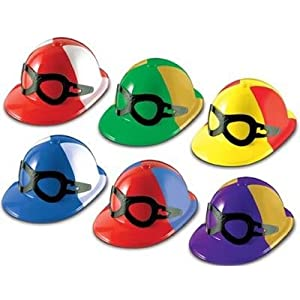 HORSE RACING PARTY FAVOR OR HAT/HELMET W/ JOCKEY GOGGLES