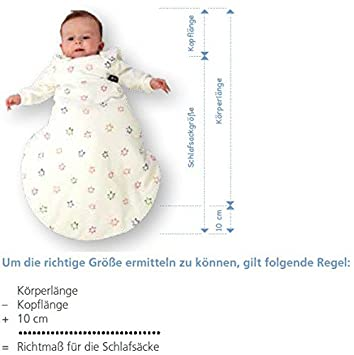 Alvi Baby Mäxchen mit Innensack Langärmel Schlafsack Gr 44 cm WÄHLBAR NEU