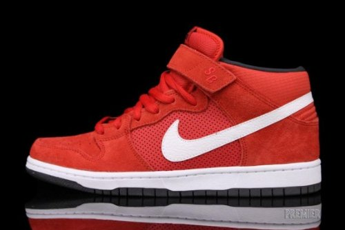 Men'S Nike Dunk Sb Mid Pro Hyper Red White Anthracite 314383 610 Skateboarding (Men'S 12, Hyper Red White Anthracite)
