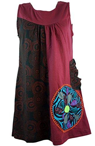 Boho-chic da Mini dell'abito - vinaccia/tuniche rosso 44