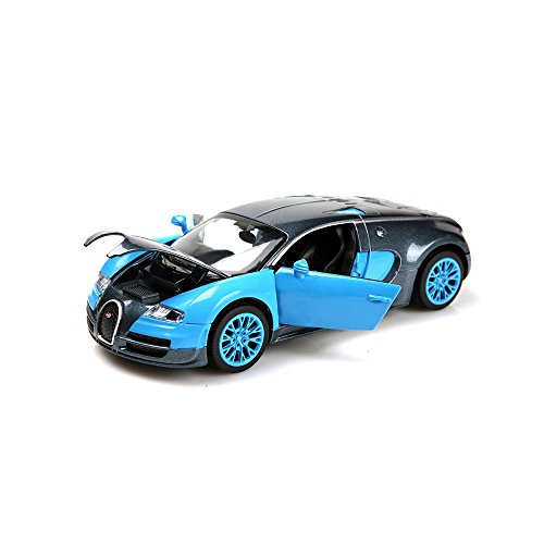 New style 1:32 Bugatti Veyron Alloy Diecast car model collection light&sound Blue (Diecast Model Cars compare prices)