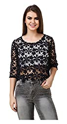 Brand Me Up Women's Top (BMU-TP85--S, Black, Small)