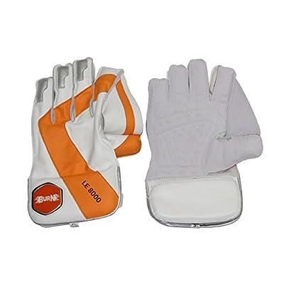Burn LE-8000 Wicket Keeping Gloves- Mens (White/Orange)
