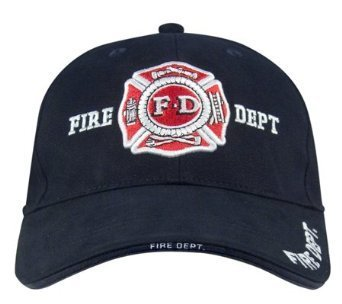 9365	Navy Blue Fire Dept insignia hat (adj) (Firefighter Cap compare prices)