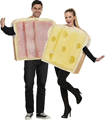 Morris Costumes Ham And Swiss Adult Couple