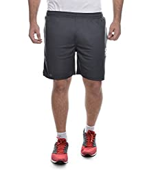 Surly Dark Grey Plain Polyester Shorts