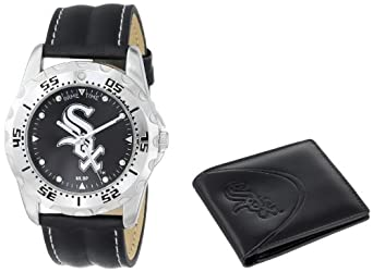 Game Time Unisex MLB-WWS-CWS Wallet and Chicago White Sox MLB Watch Set by Game Time