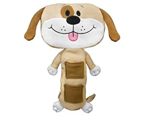 seat pet car seat toy tan dog