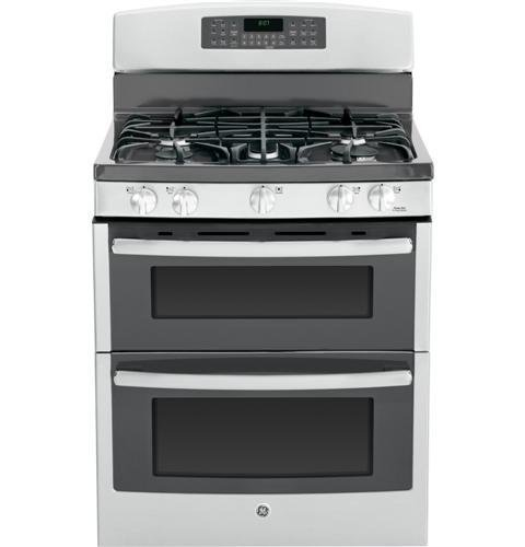 """Ge Jgb870Sefss 30"""" Stainless Steel Gas Sealed Burner Double Oven Range - Convection"""