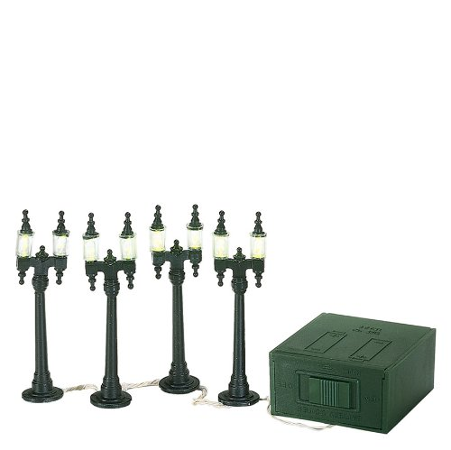 Department 56 Village Double Street Lamps Set of 4