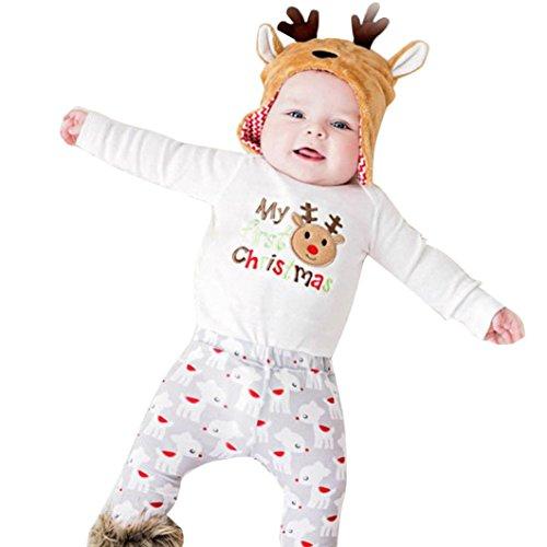 Culater® Natale Newborn bambini pagliaccetto del bambino della tuta della tuta Outfit (90)