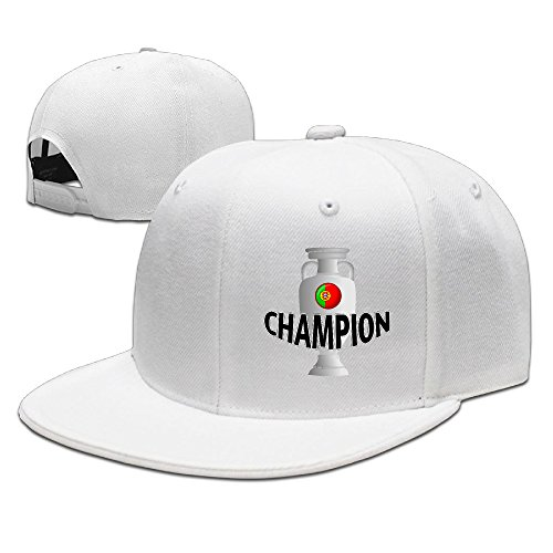 CYANY Portugal Champion Flat Bill Snapback Adjustable Leisure Cap White (Loc Peppa compare prices)