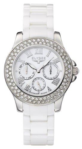 Elysee - 28444 - Montre Femme - Quartz Analogique - Bracelet céramique Blanc