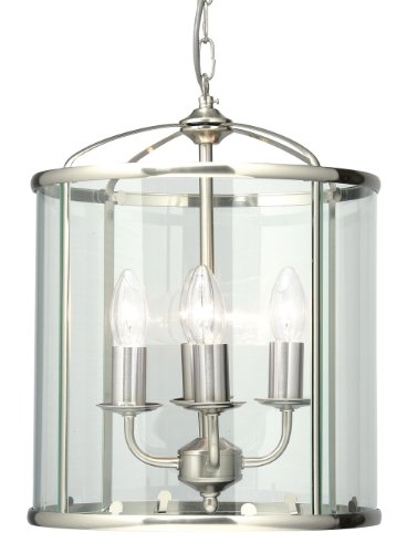 Fern Lantern Satin Chrome Finish