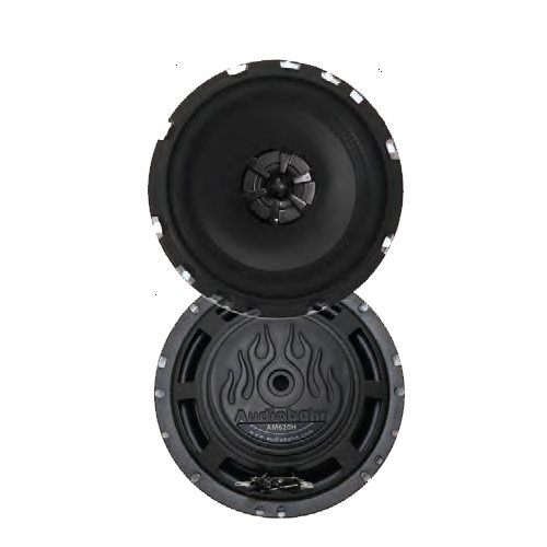 Audiobahn Ams620H 6-1/2 Inches 2-Way Murdered Out Series Coaxial Car Speakers front-405645