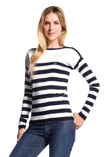 Long Sleeve Boatneck Sailor Striped T-shirt