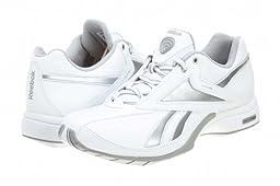 Reebok Women\'s TrainTone Slimm Sports Conditioning Shoe,White/Pure Silver/Carbon,7.5 M US