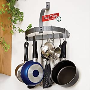 Enclume MPH-08 RACK IT UP Half Moon Wall Pot Rack by Enclume