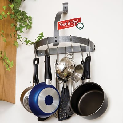 Enclume RACK IT UP Half Moon Wall Pot Rack Holds Over 100 lbs