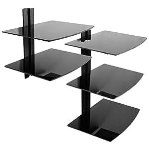 dvd wandregal wandhalterung regal f r dvd player elektronik. Black Bedroom Furniture Sets. Home Design Ideas