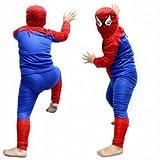 スパイダーマン子供衣装ハロウィンイベント用コスチュームMサイズ(6歳前後)