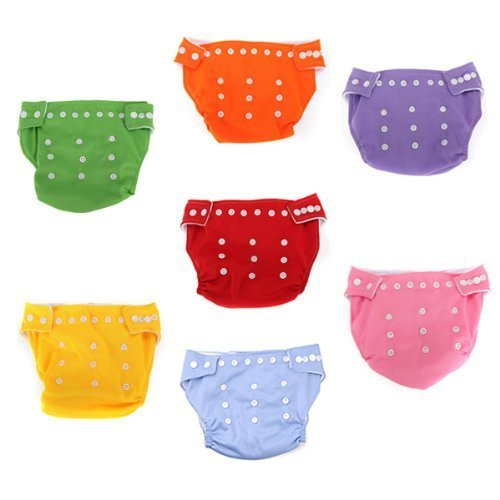 Xhan 7X Reusable Adjustable Washable Baby Soft Cloth Nappy Diaper One Size +7 Inserts front-146021