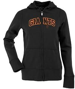 San Francisco Giants Applique Ladies Zip Front Hoody Sweatshirt (Team Color) by Antigua