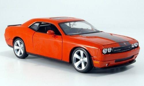 dodge-challenger-srt8-orange-2008-modellauto-fertigmodell-maisto-124