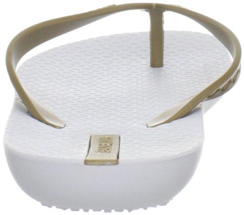 Ipanema Women's Neo Sense Thong Sandal,White/Gold,6 M US