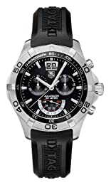 TAG Heuer Men s CAF101A FT8011 Aquaracer Quartz Chronograph Grande Date Watch