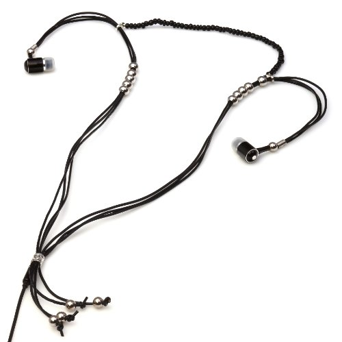 View Quest Necklace Earphones - Silver Beads