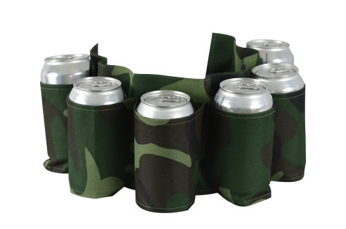 Check Out This Camo Beer Belt, Holds 6 Cans or Bottles - Camouflage Holster
