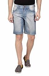 Hammock Men's Acid Washed Denim Shorts - Boxer Blue
