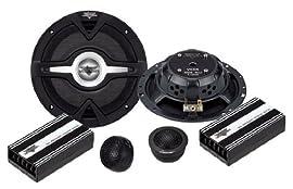 Lanzar - Vector 6.5'' 2-Way Slim Component Speaker System - VC6K