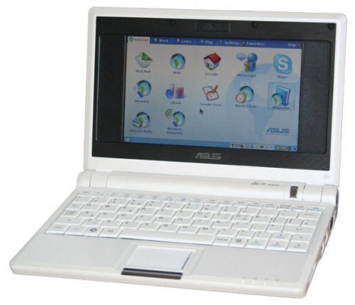 Asus Eee (7 inch) Netbook 900MHz 512MB 4GB Linux (White)