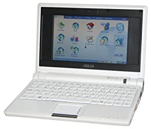 Asus Eee (7 inch) Netbook 900MHz 512MB 4GB Linux (White)