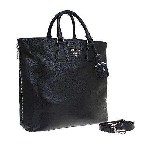 c59ab7a22dc5 Prada Vitello Phenix Black Textured Leather Shopping Tote Bag BN2419 - SHOP  HANDBAG BOUTIQUE