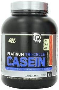 Optimum Nutrition Platinum Tri-Celle Casein, Strawberry Indulgence, 2.26 Pound