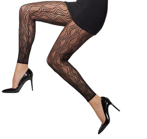 Fever Footless Tights Lace Pattern - 1