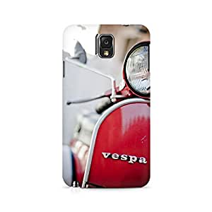 Ebby Vespa Front Premium Printed Case For Samsung Note 3 N9006