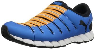 PUMA Men's Osu 3 Running Shoe,Brilliant Blue/Black/Zinnia,11 D US