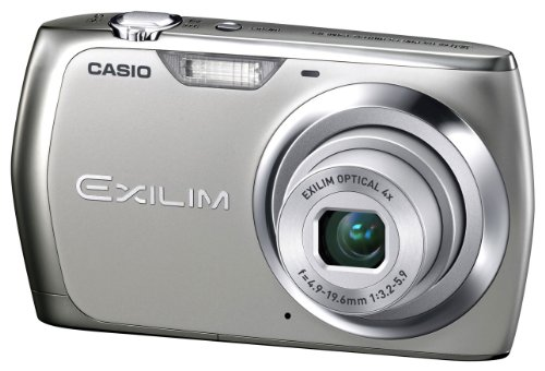 Casio Exilim EX-Z350 Digitalkamera (12 Megapixel, 4-fach opt. Zoom, 6,85 cm (2,7 Zoll) Display) silber